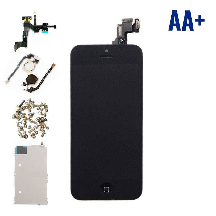 For iPhone 5C Mounted Display (LCD + Touch Screen + Parts) AA + Quality - Black