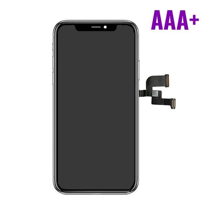 iPhone X Scherm (Touchscreen + OLED + Onderdelen) AAA+ Kwaliteit - Zwart