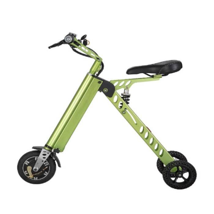 Ultralight Electric Foldable Smart e Scooter 250W - 8 inch - 3 Wheels - Green