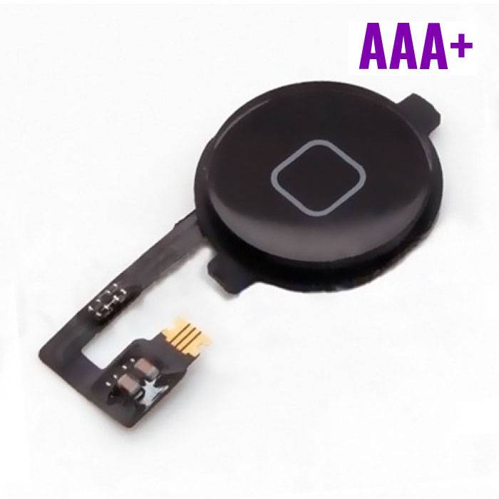 For Apple iPhone 4 - AAA + Home Button Flex Cable Assembly Black