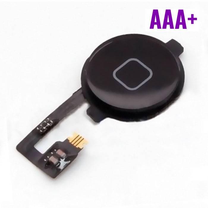Pour Apple iPhone 4 - AAA+ Accueil Bouton Flex Assemblée cable noir