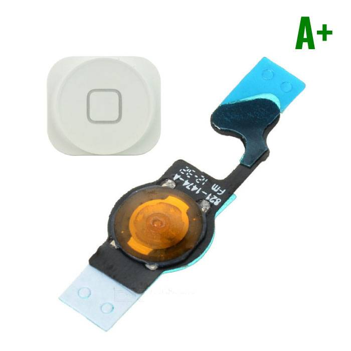 Voor Apple iPhone 5 - A+ Home Button Assembly met Flex Cable Wit