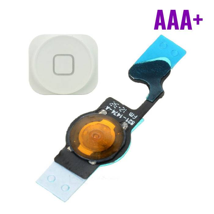 Voor Apple iPhone 5 - AAA+ Home Button Assembly met Flex Cable Wit