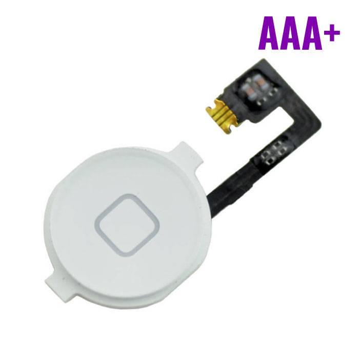 Pour Apple iPhone 4 - AAA+ Accueil Bouton Flex Assemblée avec cable blanc