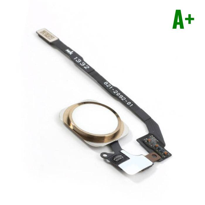 Voor Apple iPhone 5S - A+ Home Button Assembly met Flex Cable Goud