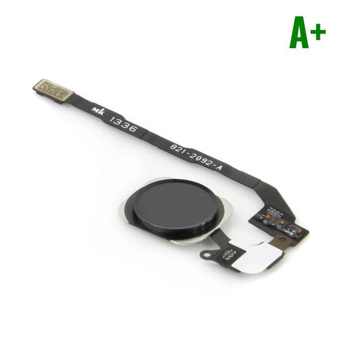 Voor Apple iPhone 5C - A+ Home Button Assembly met Flex Cable Zwart