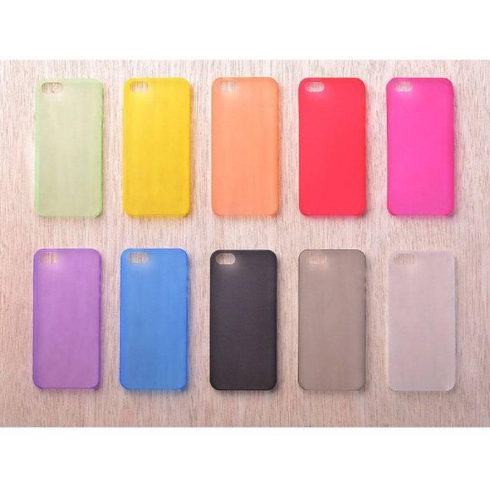 Étui TPU couvercle transparent en silicone transparent en 10 teintes iPhone 4 4S