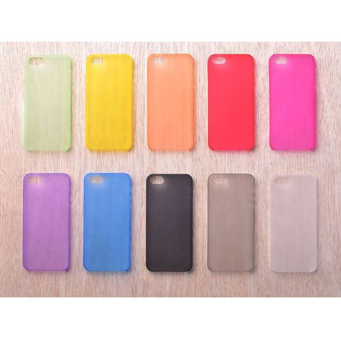 Transparant Clear Case Cover Silicone TPU Hoesje in 10 tinten iPhone 4 4S