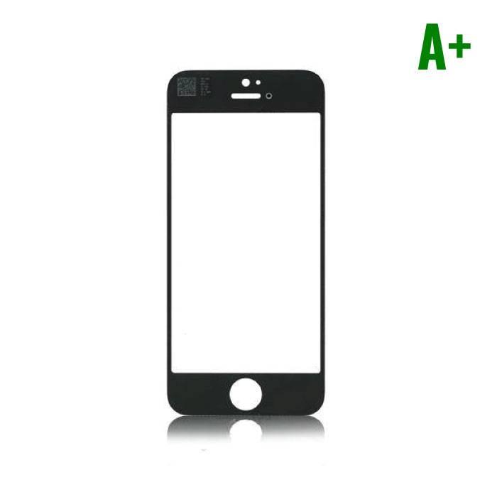 iPhone 5 / 5C / 5S / SE Plaque en verre à l'avant - Qualité A - Noir