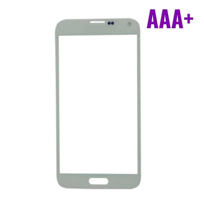 Samsung Galaxy S5 i9600 AAA+ avant Verre Qualité - Blanc