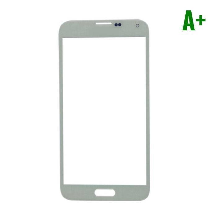 Samsung Galaxy S5 i9600 A+ verre avant Qualité - Blanc