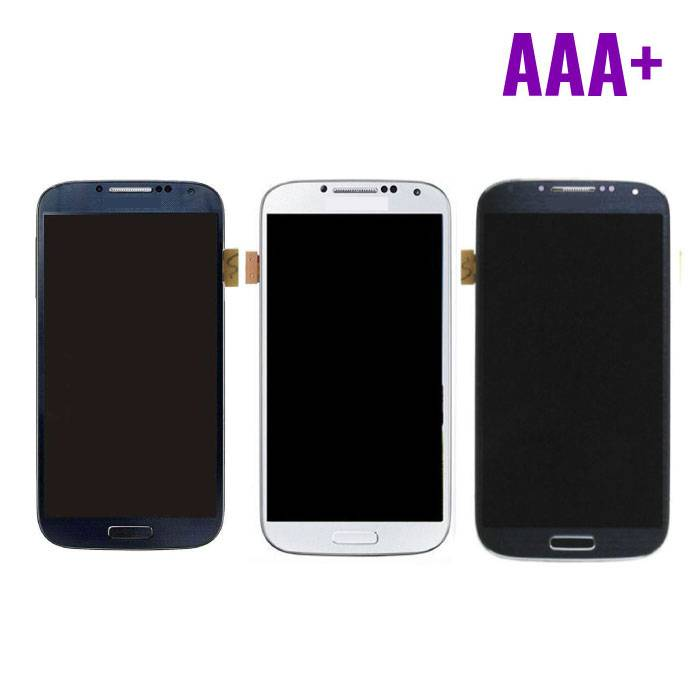 Samsung I9500 Galaxy S4 screen (Touchscreen + AMOLED + Parts) AAA + Quality - Blue / Black / White