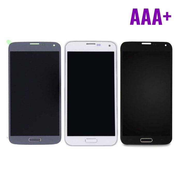 Samsung Galaxy S5 écran I9600 (LCD + écran tactile + Pièces) AAA+ Qualité - Bleu / Noir / Blanc
