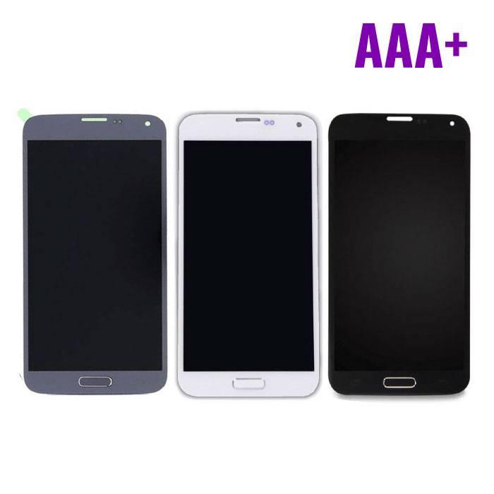 Samsung Galaxy S5 I9600 Scherm (Touchscreen + AMOLED + Onderdelen) AAA+ Kwaliteit - Blauw/Zwart/Wit