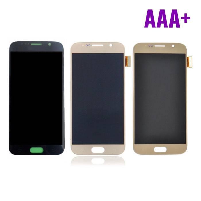 Samsung Galaxy S6 Scherm (Touchscreen + AMOLED + Onderdelen) AAA+ Kwaliteit - Zwart/Wit/Goud