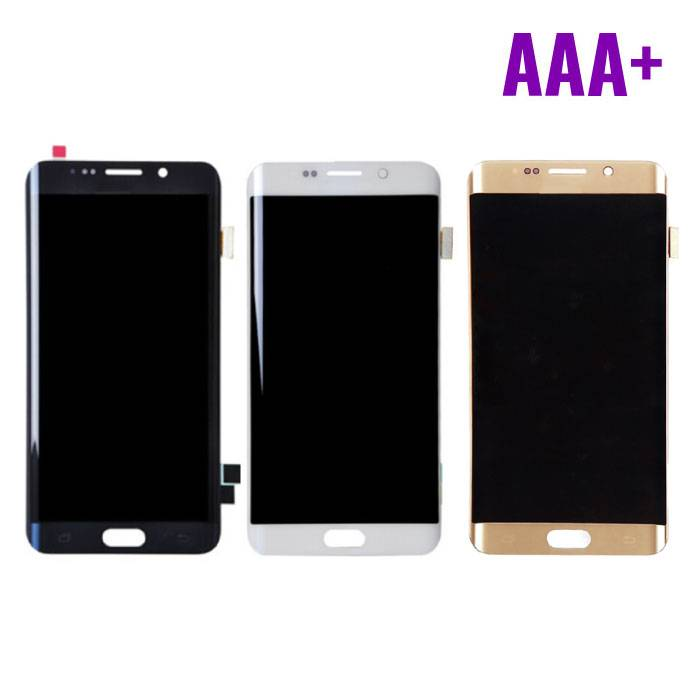 Samsung Galaxy S6 Edge Screen (LCD + Touch Screen + Parts) AAA + Quality - Black / White / Gold