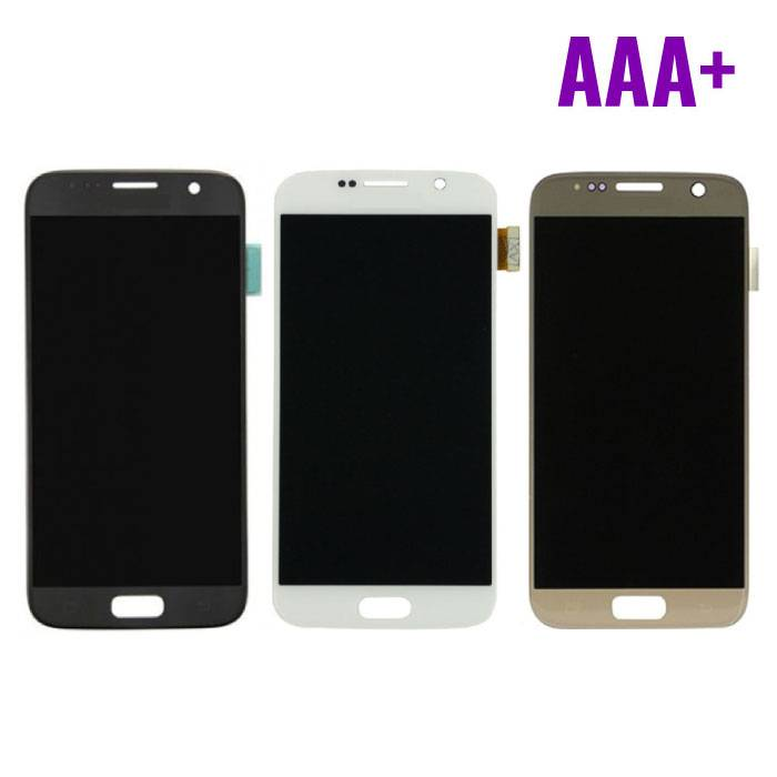 Samsung Galaxy S7 Screen (LCD + Touch Screen + Parts) AAA + Quality - Black / White / Gold