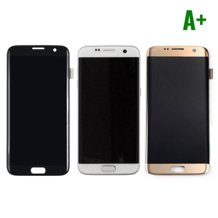 Samsung Galaxy S7 Edge Display (AMOLED + Touch Screen + Parts) A + Quality - Black / White / Gold