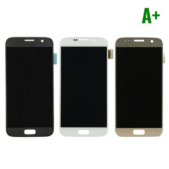 Samsung Galaxy S7 Screen (LCD + Touch Screen + Parts) A + Quality - Black / White / Gold