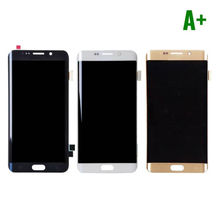 Samsung Galaxy S6 Edge Screen (LCD + Touch Screen + Parts) A + Quality - Black / White / Gold