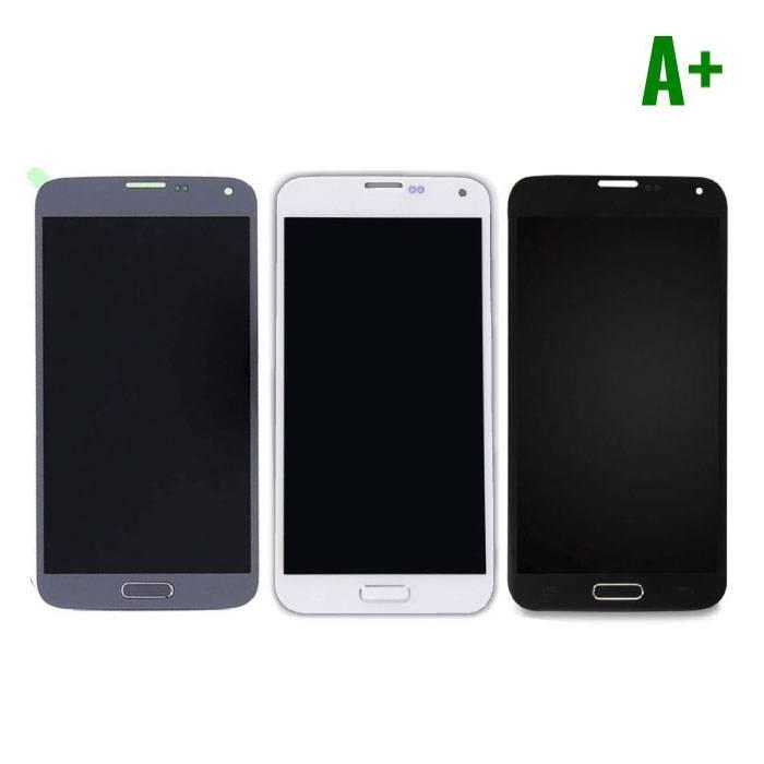 Samsung Galaxy S5 I9600 Scherm (Touchscreen + AMOLED + Onderdelen) A+ Kwaliteit - Blauw/Zwart/Wit
