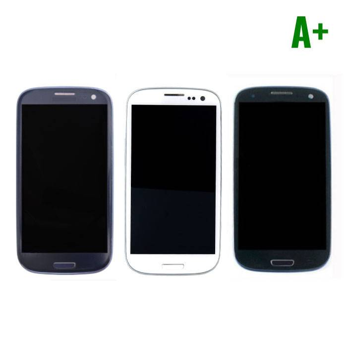 Samsung Galaxy S3 I9300 Scherm (Touchscreen + AMOLED + Onderdelen) A+ Kwaliteit - Blauw/Zwart/Wit