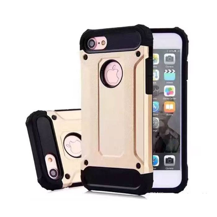 iPhone Plus 8 - Gold Plated Armor Case Cover Cas Silicone TPU Case Gold
