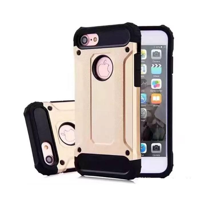iPhone Plus 8 - plaqué or Armure de couverture de cas Cas Silicone TPU Or
