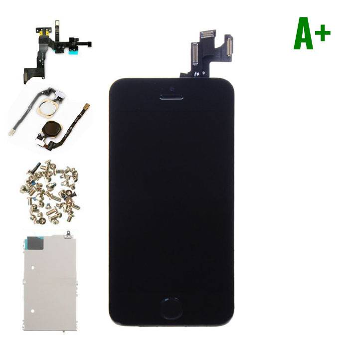iPhone 5S Front Mounted Display (LCD + Touch Screen + Parts) A + Quality - Black