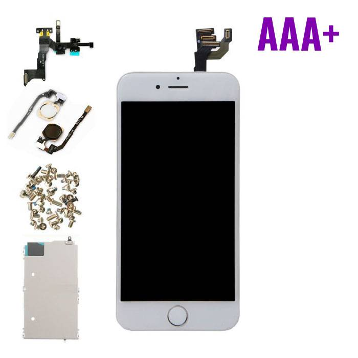 """iPhone 6 4.7 """"Front Mounted Display (LCD + Touch Screen + Parts) AAA + Quality - White"""