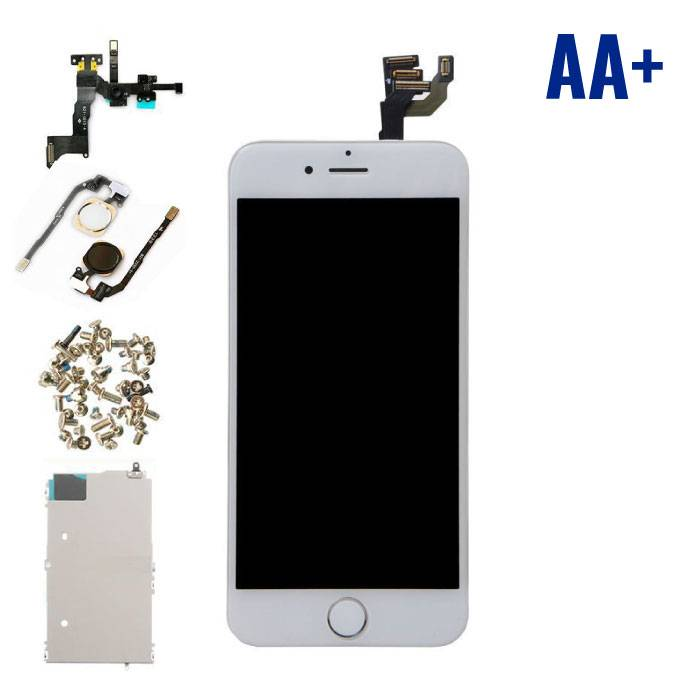 """iPhone 6 4.7 """"Front Mounted Display (LCD + Touch Screen + Parts) AA + Quality - White"""