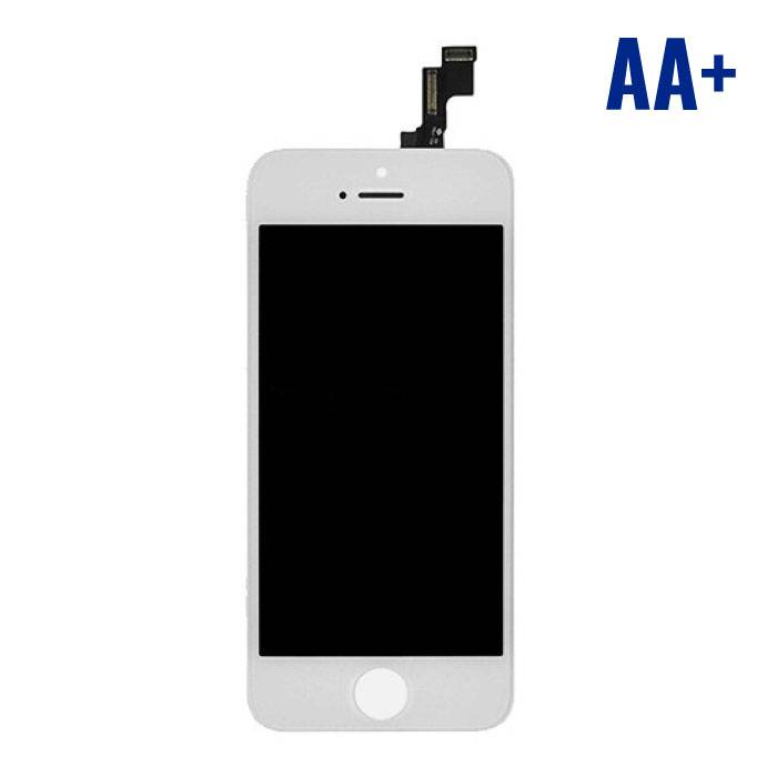 iPhone SE/5S Scherm (Touchscreen + LCD + Onderdelen) AA+ Kwaliteit - Wit