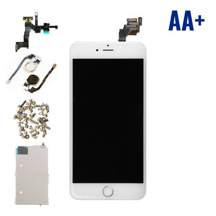 iPhone 6S Plus Front Mounted Display (LCD + Touch Screen + Parts) AA + Quality - White