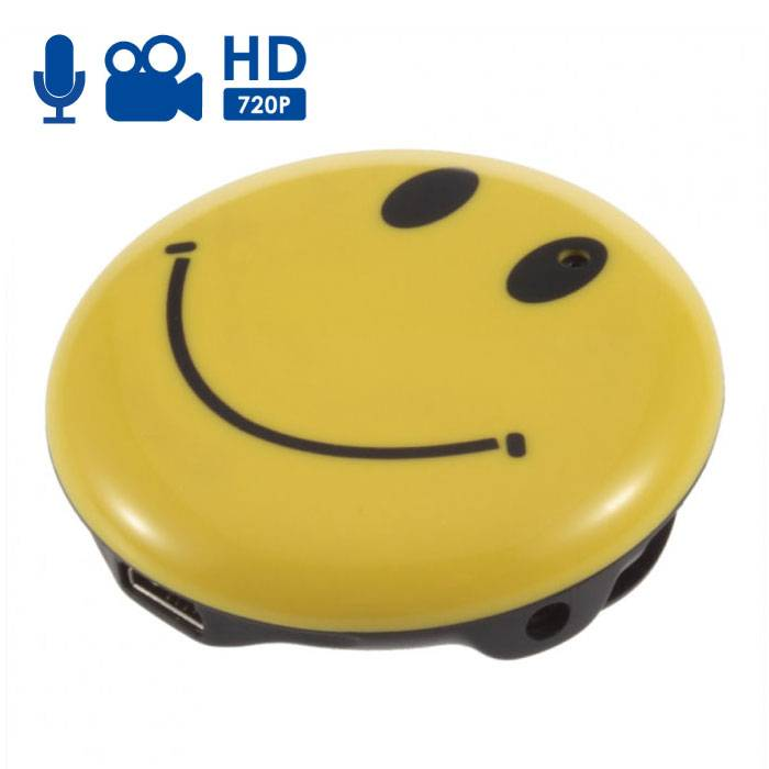 Spycam Smiley Dashcam Hidden DVR Camera With Microphone - HD