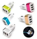 Stuff Certified® 2-Pack haute vitesse 3 ports Chargeur / Carcharger - 5 couleurs