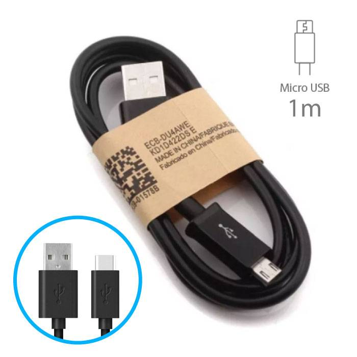 USB 2.0 - Micro-USB Oplaadkabel Oplader Data Kabel Data Android 1 Meter Zwart