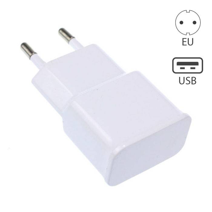 Android Stekker Muur Lader Oplader USB AC Thuis Wit