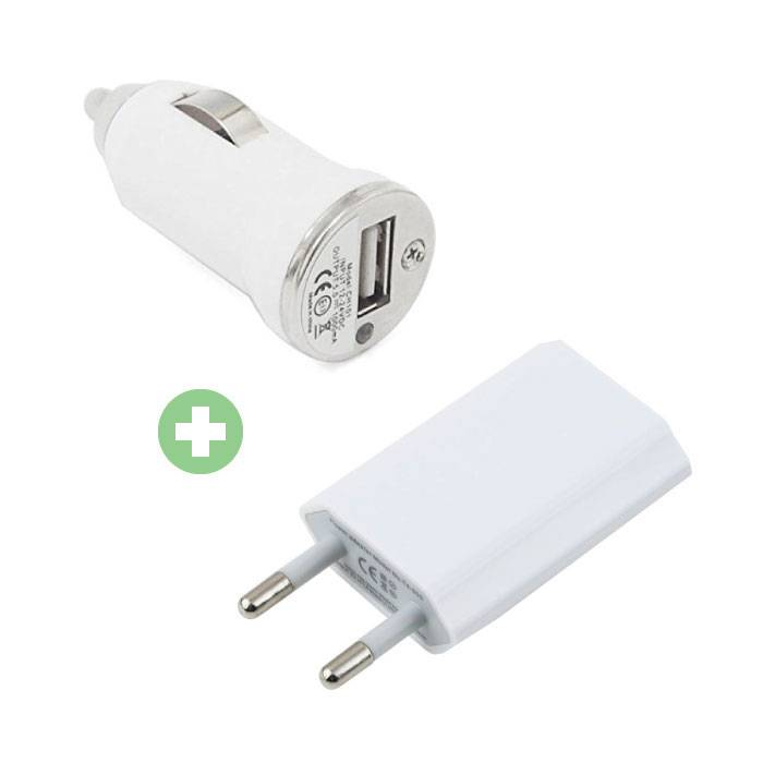 2 in 1 Charger Plug Charger / Wall Charger and Car Charger / Carcharger