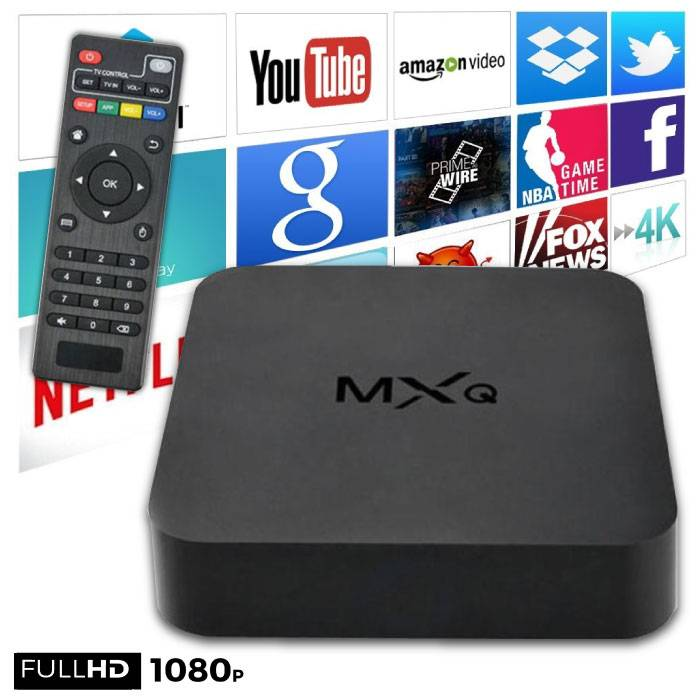 MXQ HD TV Box Mediaspeler Android Kodi - 1GB RAM - 2GB Opslagruimte
