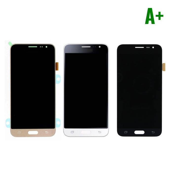 Samsung Galaxy J3 2016 Display (AMOLED + Touch Screen + Parts) A + Quality - Black / White / Gold