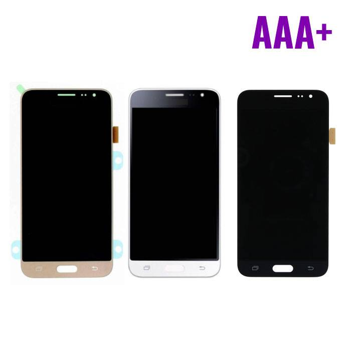 Samsung Galaxy J3 2016 Display (AMOLED + Touch Screen + Parts) AAA + Quality - Black / White / Gold