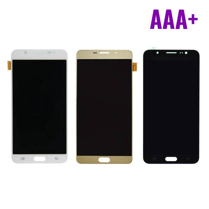 Samsung Galaxy J7 2016 Display (AMOLED + Touch Screen + Parts) AAA + Quality - Black / White / Gold