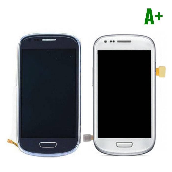 Samsung Galaxy S3 Mini Scherm (Touchscreen + LCD + Onderdelen) A+ Kwaliteit - Blauw/Wit