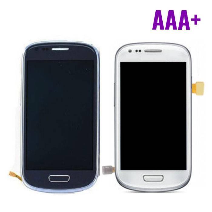 Samsung Galaxy S3 Mini Scherm (Touchscreen + LCD + Onderdelen) AAA+ Kwaliteit - Blauw/Wit