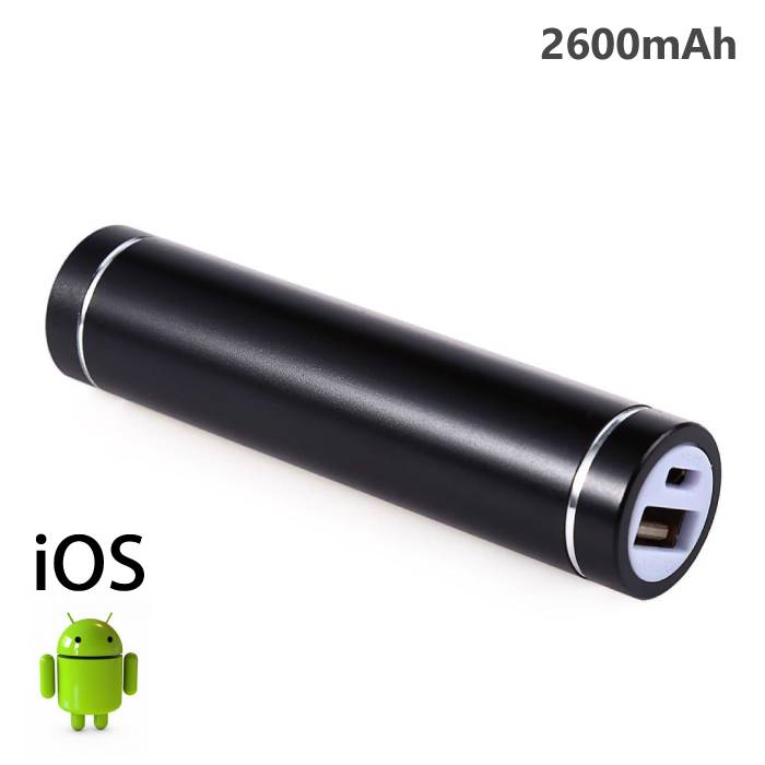 Cylinder 2600mAh Emergency Power Bank Battery Charger
