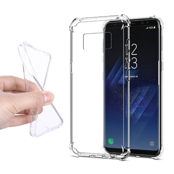 Transparent en silicone transparent de couverture de cas TPU Samsung Galaxy S8 plus