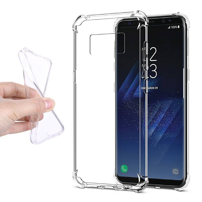 Samsung Galaxy S8 Transparant Clear Case Cover Silicone TPU Hoesje
