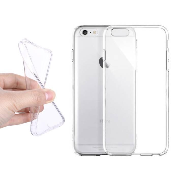 iPhone 6S plus transparent en silicone transparent de couverture de cas TPU