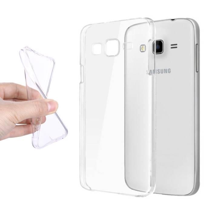 Samsung Galaxy Prime J5 2016 Transparent Silicone Case Cover TPU Case