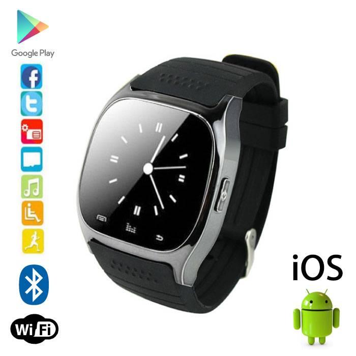 Originele M26 Smartwatch Smartphone Horloge OLED Android iOS Zwart